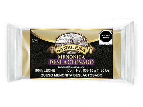 MEDIA BARRA QUESO MENONITA DESLACTOSADO SANBUENA 839,15 g 1.85 lb pz