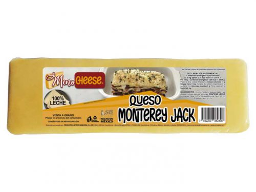 BARRA QUESO MONTEREY JACK MENO CHEESE 2,5 kg