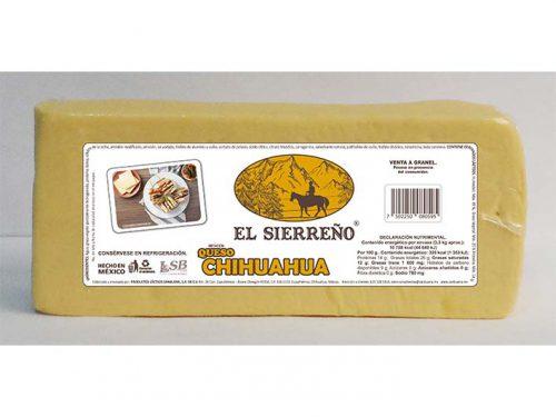 BARRA IMITACIÓN QUESO CHIHUAHUA EL SIERREÑO 3,3 kg