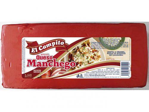 BARRA IMITACIÓN QUESO MANCHEGO EL CAMPITO EMPAQUE ROJO 3,3 kg