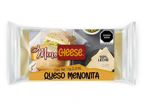 LSB - MEDIA BARRA QUESO MENONITA MENO CHEESE 1 kg 2.20 lb pz